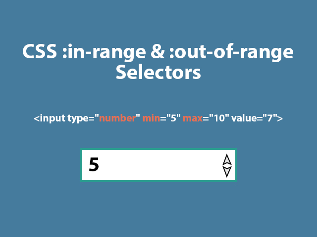 CSS :in-range and :out-of-range selectors