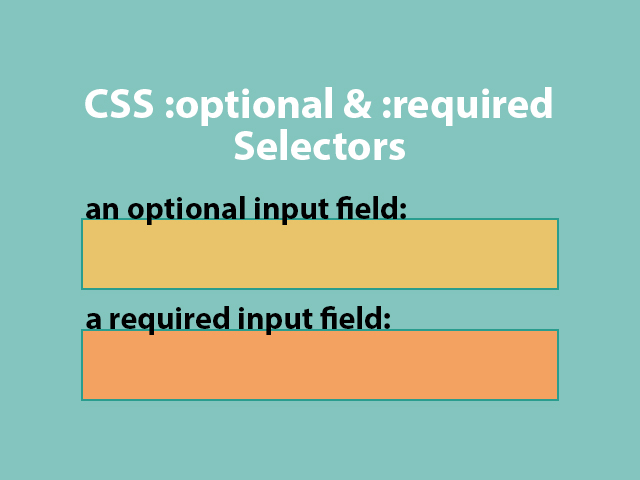 CSS :optional and :required selectors