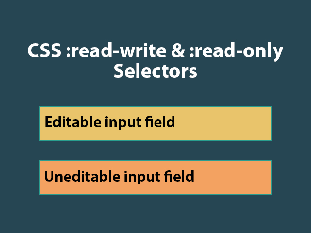 CSS :read-write and :read-only Selectors