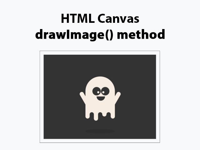 HTML Canvas drawImage() method