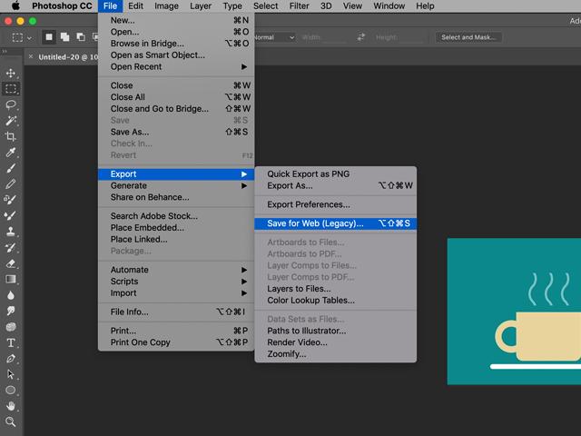 Photoshop Exporting GIF