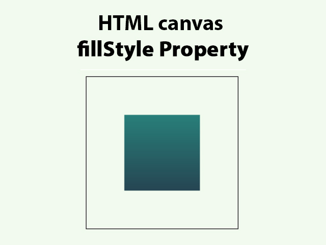 HTML canvas fillStyle Property