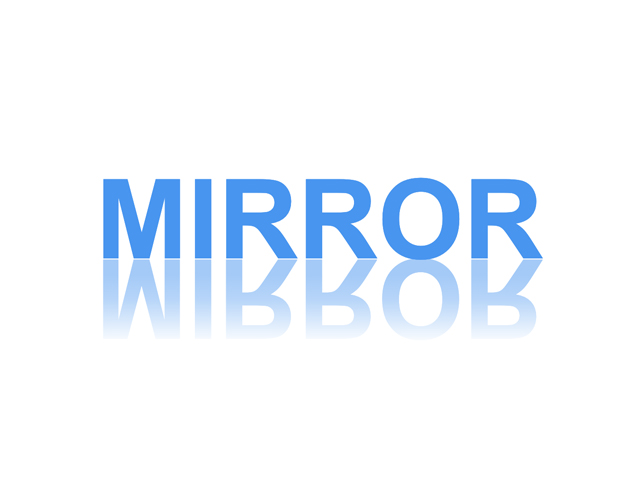 CSS Mirror/ Reflection Text Effect