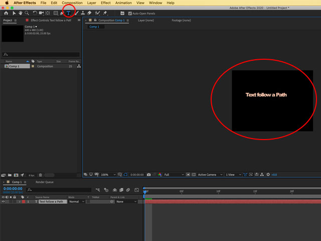 How to make text follow a path in After Effects?