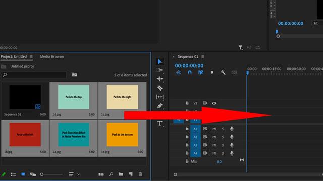 Adobe Premiere Pro sequence panel