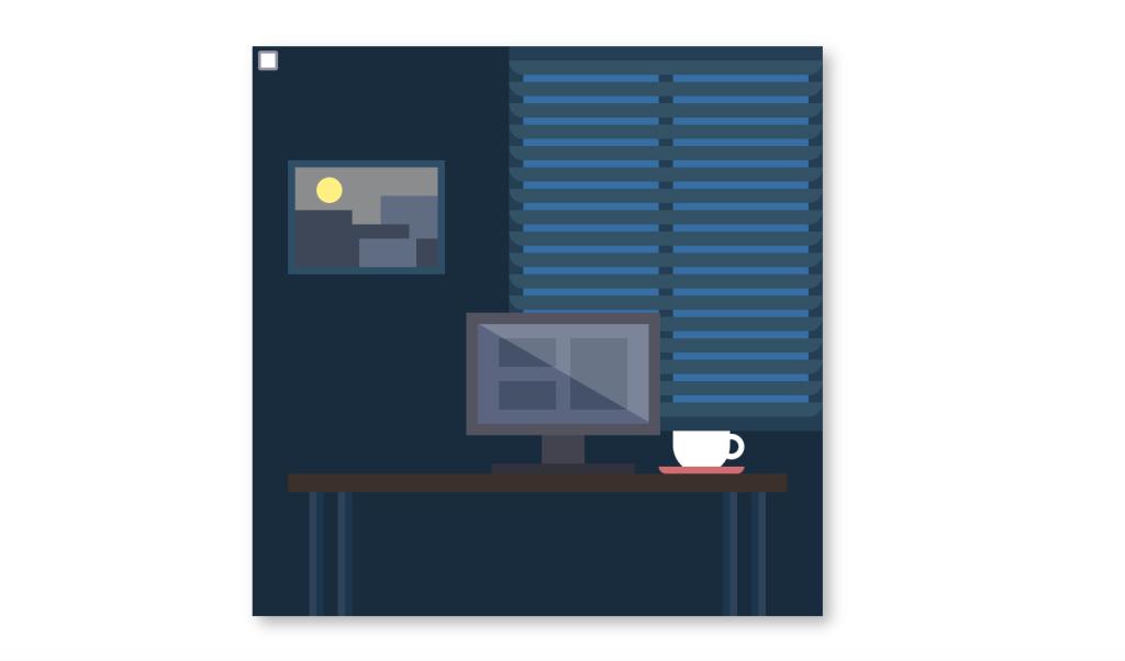 CSS desk lamp