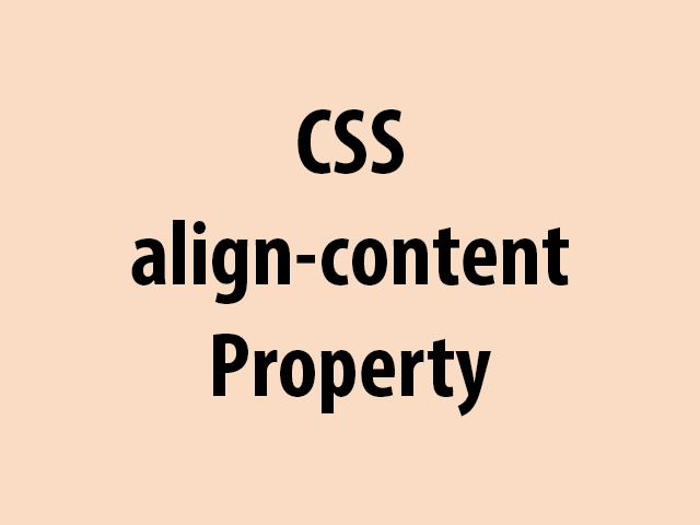 CSS align-content Property