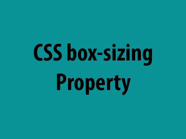 CSS box-sizing Property