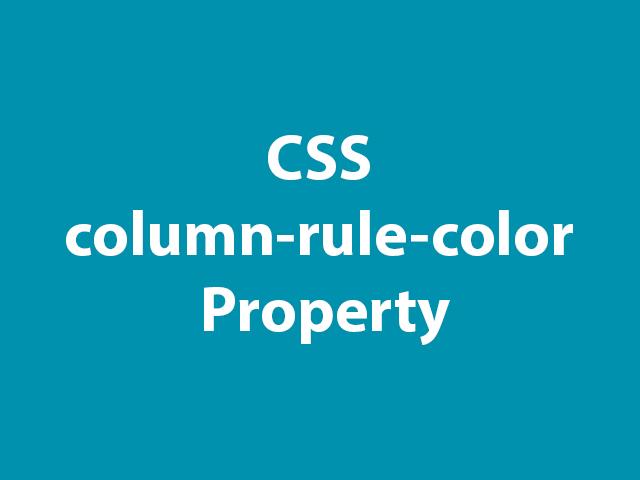 CSS column-rule-color Property