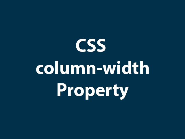 CSS column-width Property