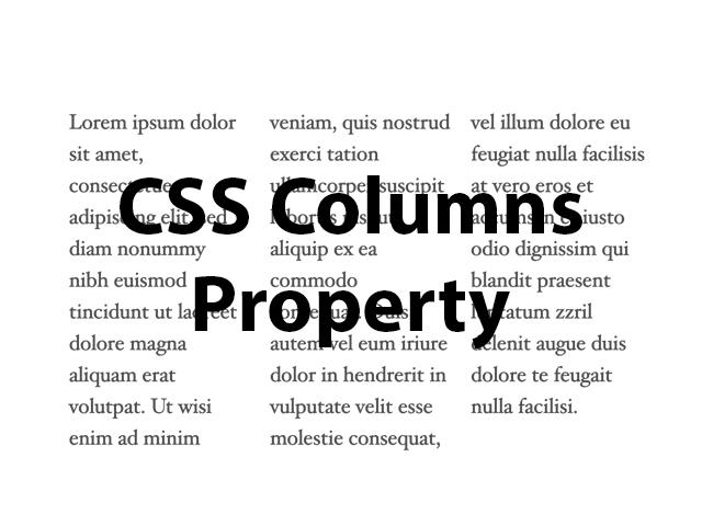 CSS Columns property