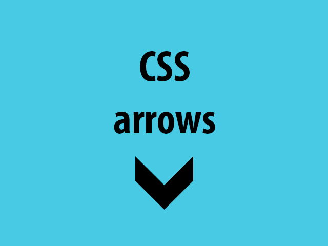 How to create arrows with CSS?