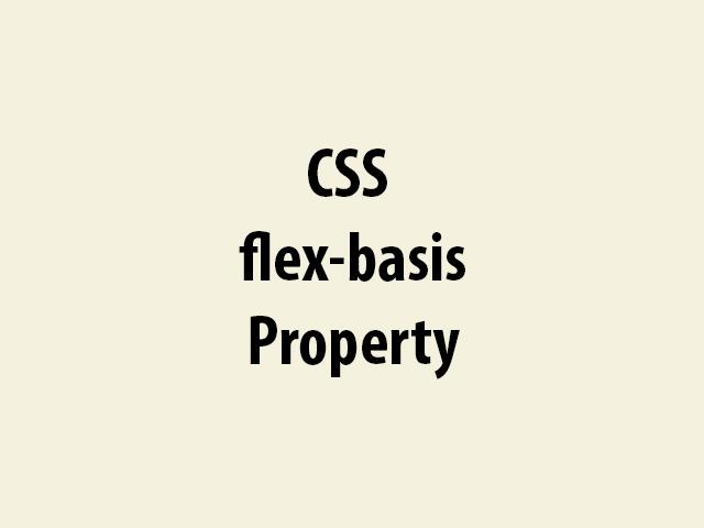 CSS flex-basis Property