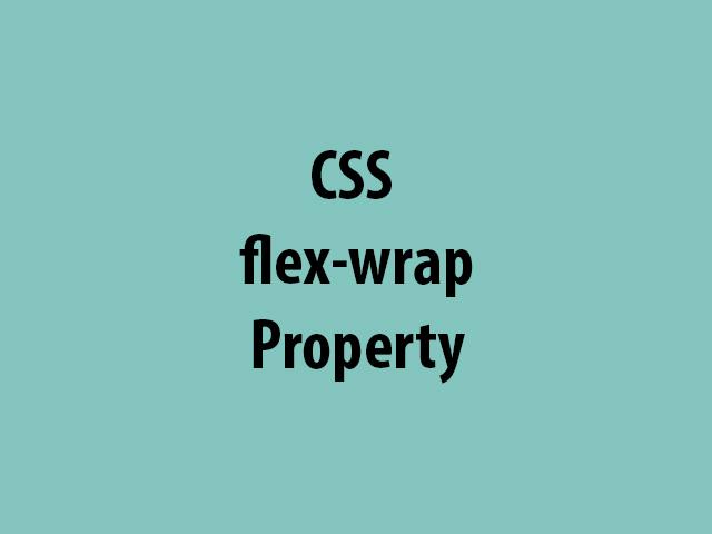 CSS flex-wrap Property