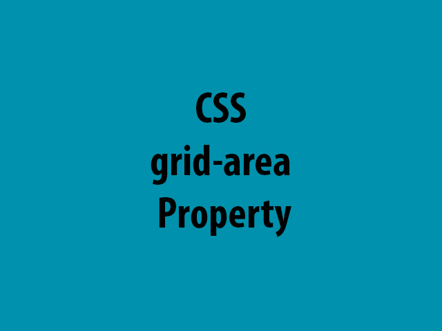 CSS grid-area Property