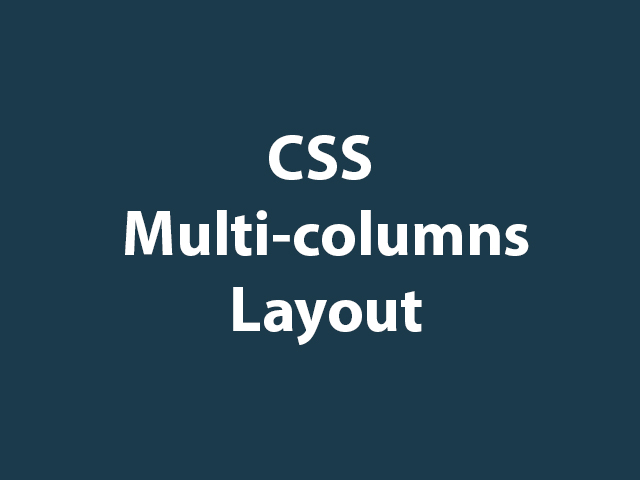 CSS Multi-column Layout