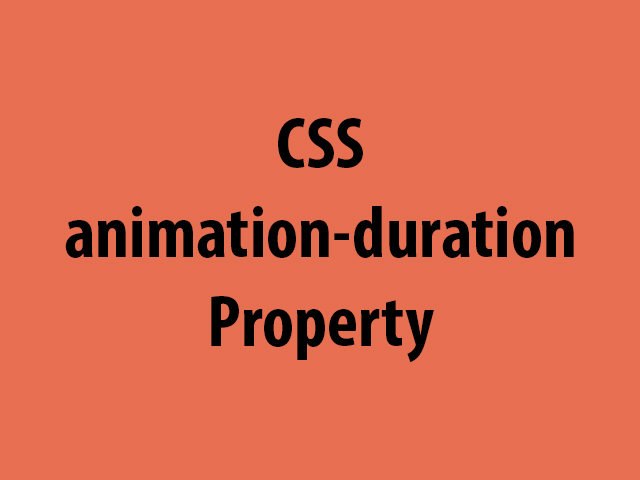 CSS animation-duration Property