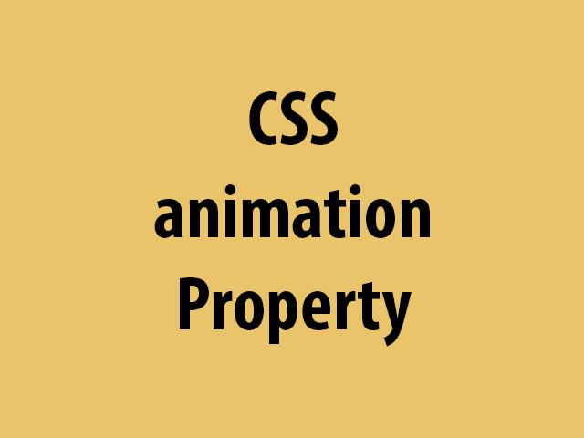 CSS animation Property