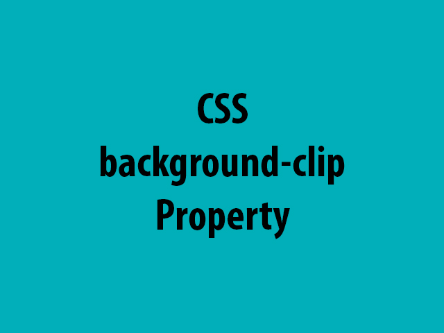 CSS background-clip Property