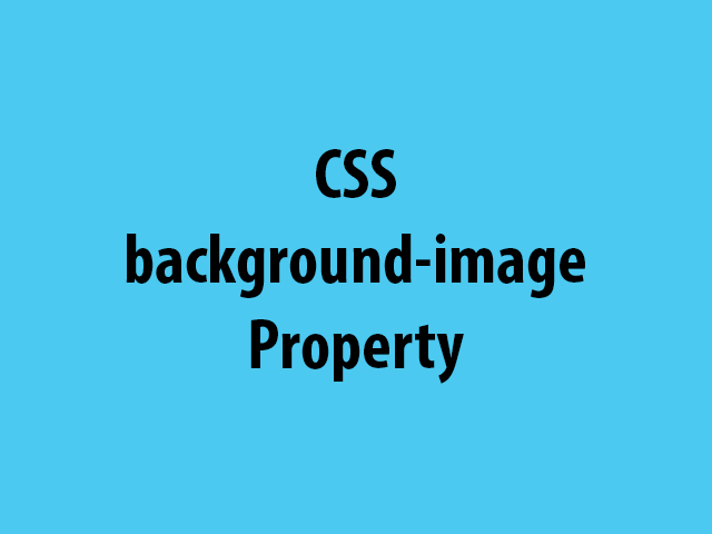 CSS background-image Property