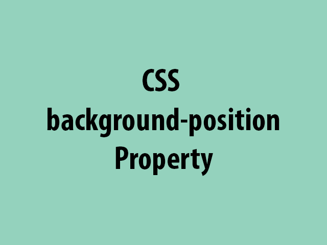 CSS background-position Property
