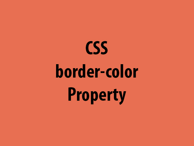 CSS border-color Property