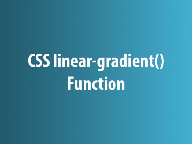 CSS linear-gradient() Function