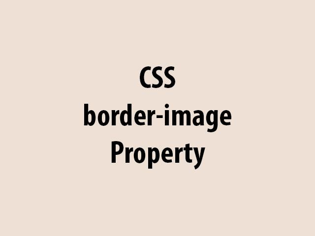 CSS border-image Property