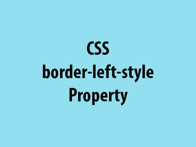 CSS border-left-style