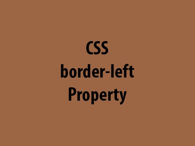CSS border-left Property