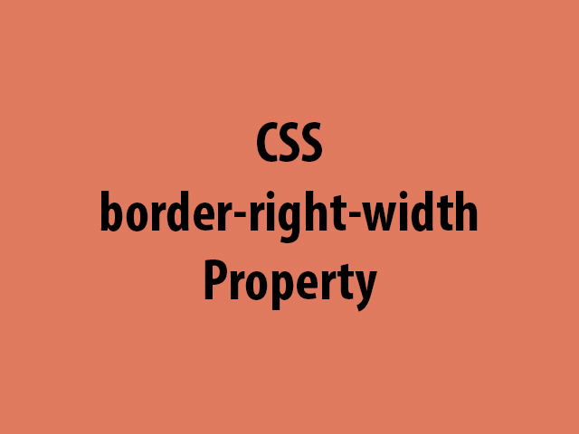 CSS border-right-width Property