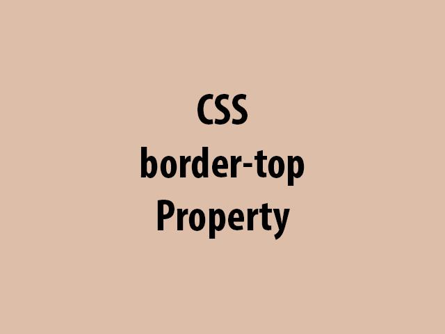 CSS border-top Property