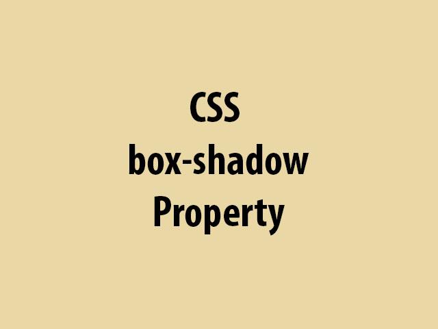 CSS box-shadow Property