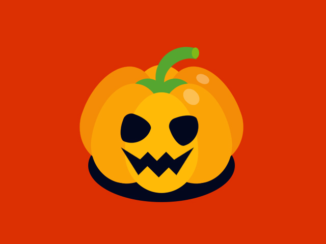 Pure CSS Halloween Pumpkin/ Jack O Lantern