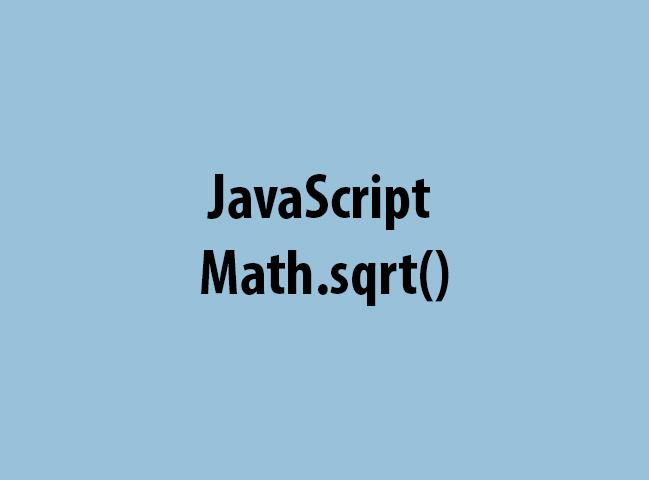 JavaScript Math.sqrt()